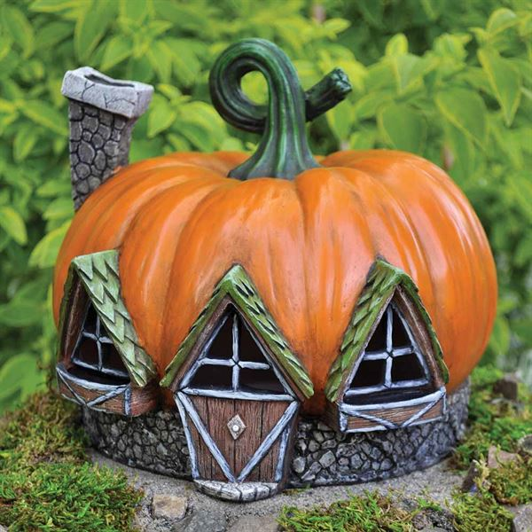 Miniature Gardening Fairy House- Pumpkin