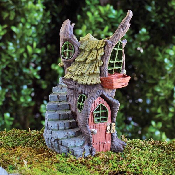Miniature Garden Fairy House- Fiddlehead