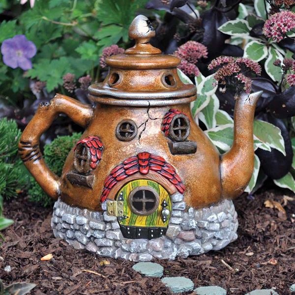 Fiddlehead Tea Pot Fairy House