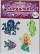 40674 mermaid iron-on patches