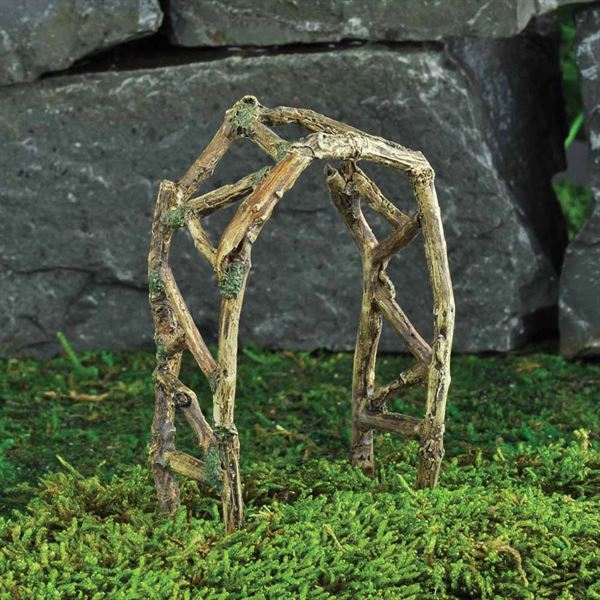 Miniature Garden Twig Arch- Fiddlehead