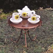 Fairy Garden Accessories- Tea Set (Fiddlehead)