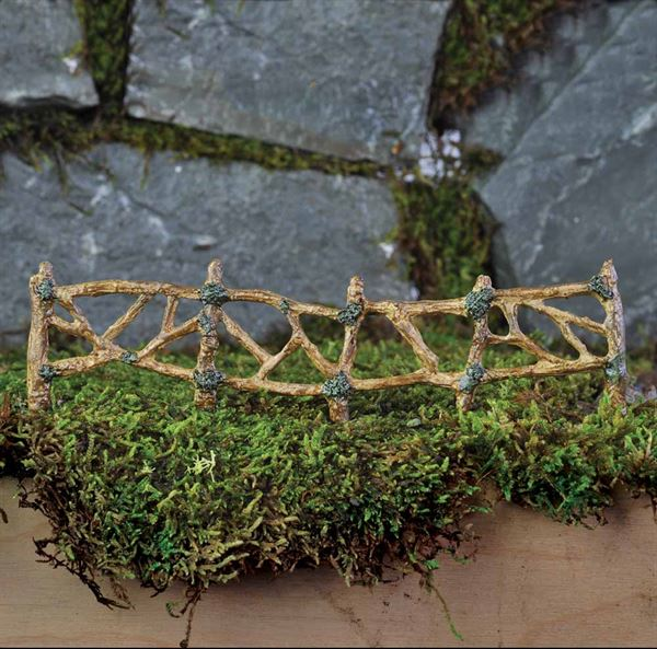 Miniature Garden Woodland Fence