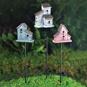 Fiddlehead Rustic Birdhouse Stakes