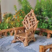 Fiddlehead Throne for Fairy Garden