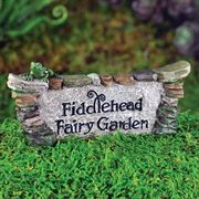 Fiddlehead Miniature Fairy Garden Sign