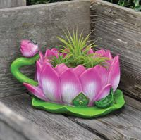 Fiddlehead Fairy Garden Planter- Lotus Cup