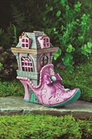 fairy houses and accessories by Fiddlehead- the Pink Slipper Chateau
