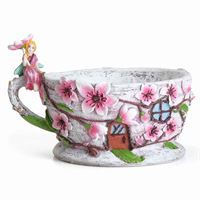 Fiddlehead Fairy Gardens Cherry Blossom Planter
